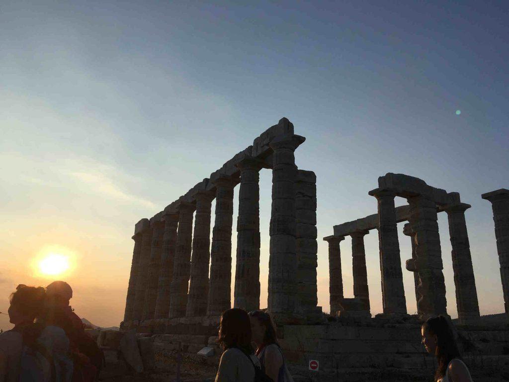 Die Fahrt ging auch an die Akropolis